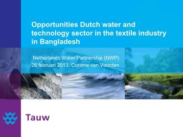 Opportunities Dutch water and technology sector in the textile ...