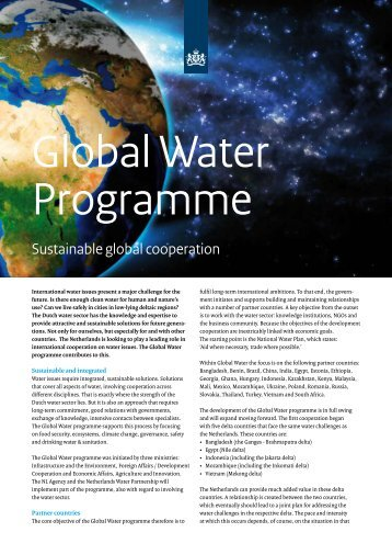 Sustainable global cooperation - Partners voor Water