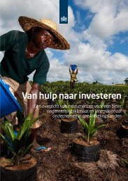 Van hulp naar investeren - Platform for International Education