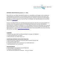 PARTNERS VOOR WATER Nieuwsbrief, nr. 4 - 2011 Met de ...