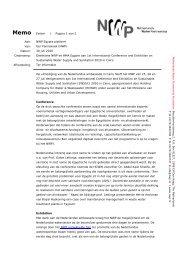Verslag deelname SWSSC conferentie - Partners voor Water