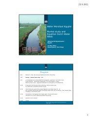 Water Mondiaal Egypte Market study and Egyptian Dutch Water Week