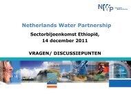 Presentatie uitkomsten workshop - Partners voor Water