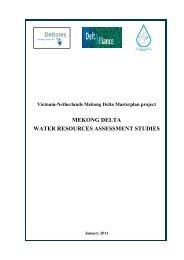 mekong delta water resources assessment studies - Partners voor ...