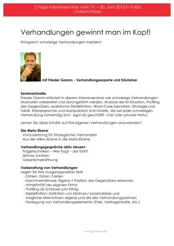 Seminar Fulda Juni 2012. - Frieder Gamm Group
