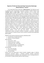 Nagrody w II Konkursie Uniwersyteckiego Towarzystwa Naukowego ...