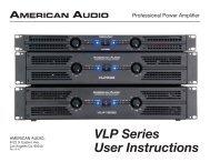 VLP Series User Manual - American Audio