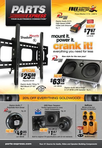 Our Sales Flyer (PDF) - Parts Express