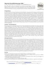 Allgemeine Geschäftsbedingungen (AGB) - Yulia