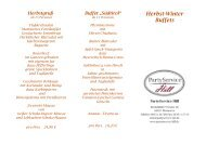 Herbst-Winter Buffets - Partyservice Hill