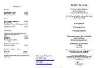 Buffet ´la Carte - Schmieger - Partyservice