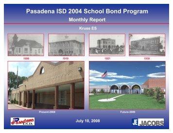 August 2008 - Pasadena Independent School District