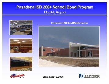 September 2007 - Pasadena Independent School District
