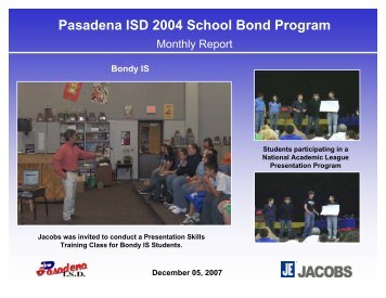 December 2007 - Pasadena Independent School District