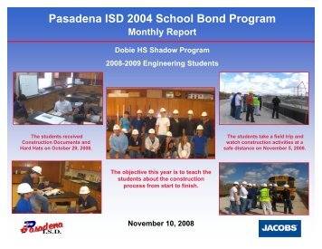 November 2008 - Pasadena Independent School District