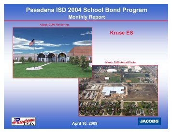 April 2009 - Pasadena Independent School District
