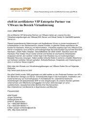 eSell ist zertifizierter VIP Enterprise Partner von ... - eSell GmbH