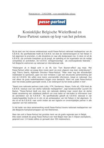 20060221 Persbericht KBWB - Passe-Partout
