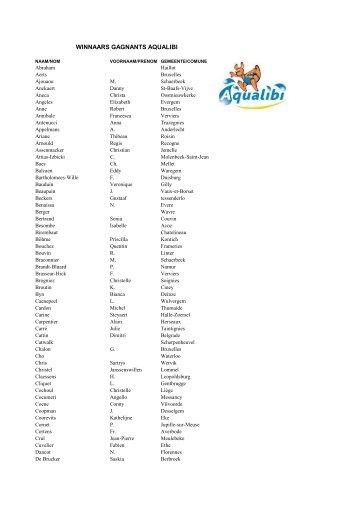 Winnaars AQUALIBI website - Passe-Partout