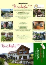 Folder Sommer 2012 Halbpension - Hotel*** - Restaurant Passhöhe