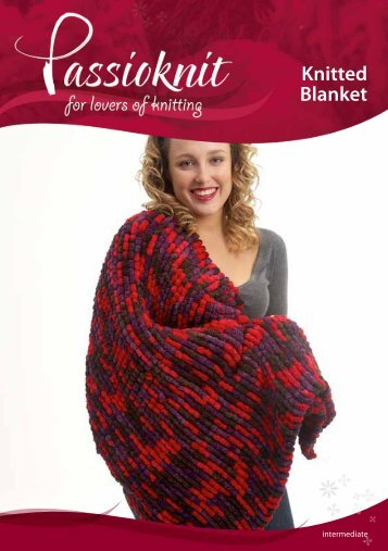Knitted Blanket - Passioknit Knitting :: Patterns, Yarns and Needles