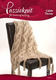 Cable Throw - Passioknit Knitting :: Patterns, Yarns and Needles