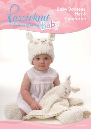Hat, Bootees, Comforter - Passioknit Knitting :: Patterns, Yarns and ...