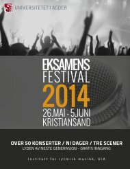 Eksamensfestival 2014 - Program