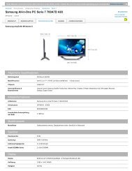 Samsung All-in-One PC Serie 7 700A7D A03 - Passiontec