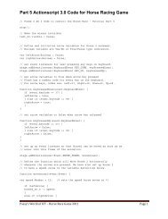 Part 5 Actionscript 3.0 Code for Horse Racing Game - Passy World