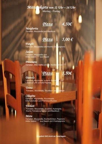 Mittagskarte - Pasta & Passione