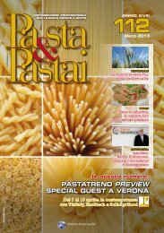 PASTATREND PREVIEW SPECIAL GUEST A ... - Pasta e pastai
