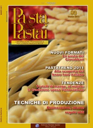 TECNICHE DI PRODUZIONE - Pasta e pastai