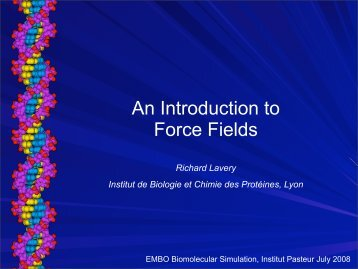 historical perspective, force fields - Institut Pasteur