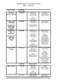 Messdienerplan März - April 2013 - Pastoralverbund Erwitte
