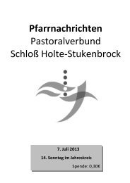 7. Juli 2013 - Pastoralverbund Schloß Holte - Stukenbrock