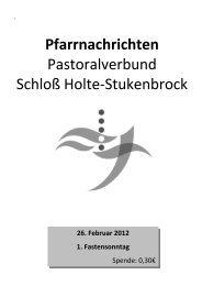Freitag, 2. März 2012 - Pastoralverbund Schloß Holte - Stukenbrock