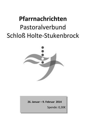 Sonntag, 9. Februar 2014 - Pastoralverbund Schloß Holte ...