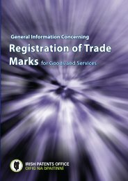 Registration of Trade - Irish Patents Office