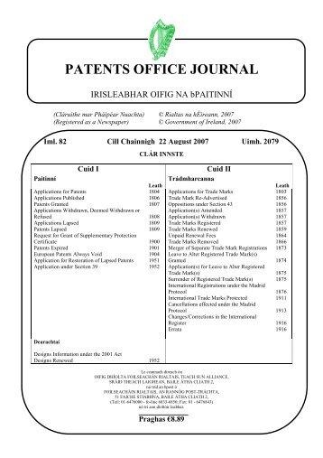2079 - Irish Patents Office