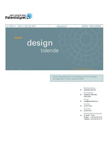 Norsk Designtidende nr 09/11 - Patentstyret