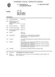 KORRIGERT UTGAVE / CORRECTED VERSION - Patentstyret