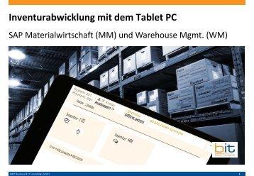 Mobile Inventurabwicklung auf Tablet PC / iPad mit SAP MM / WM