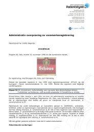 Administrativ overprøving av varemerkeregistrering - Patentstyret