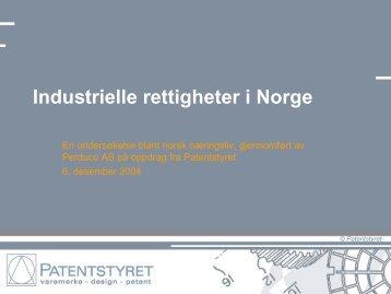 Industrielle rettigheter i Norge - Patentstyret