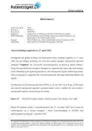 Annen avdeling - Patentstyret