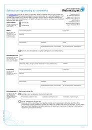 Søknad om registrering av varemerke - Patentstyret