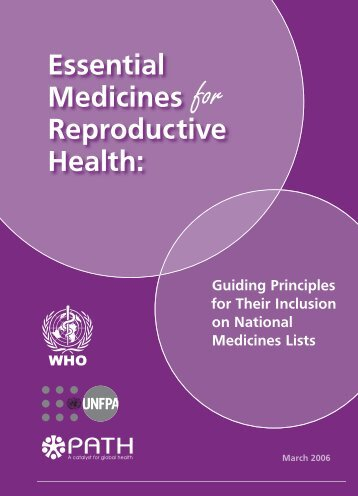 Essential Medicines for Reproductive Health: Guiding Principles for ...