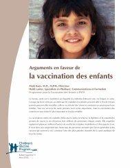Arguments en faveur de la vaccination des enfants - Path