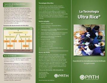 La Tecnología Ultra Rice - Expandiendo los Mercados Para el ... - Path